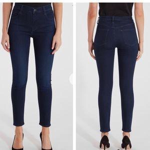 J brand Alana high rise dark wash cropped jeans